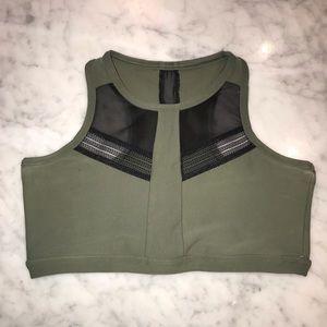 high neck sports bra